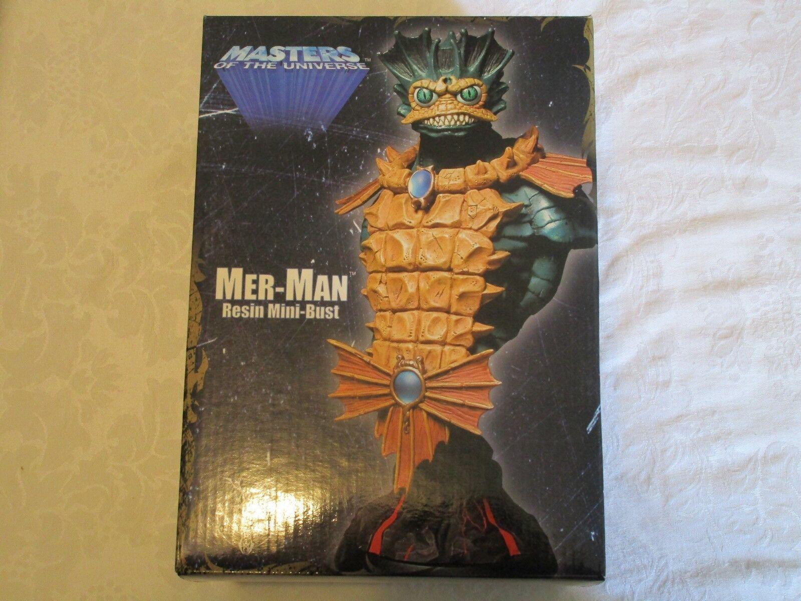 Neca Masters of the Universe MOTU Mer-Man Resin Mini-Bust  1185/2500