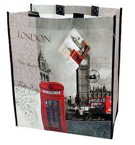 Sonstige Sonnig London Design Klassisch Einkaufstasche Carry Damen Zubehör England Britisch Neu Ein Kunststoffkoffer Ist FüR Die Sichere Lagerung Kompartimentiert