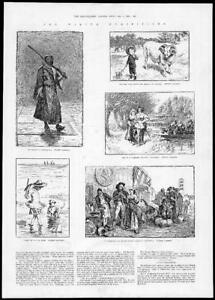 1884-FINE-ART-Antique-Print-Winter-Exhibition-Pettie-Weekes-Kennedy-Rossi-200