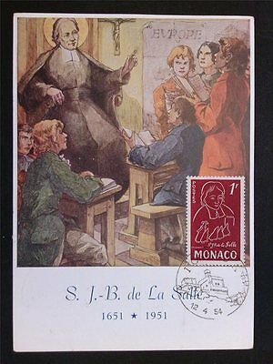 Monaco Mk 1954 St Briefmarken Monaco De La Salle Maximumkarte Carte Maximum Card Mc Cm C6862