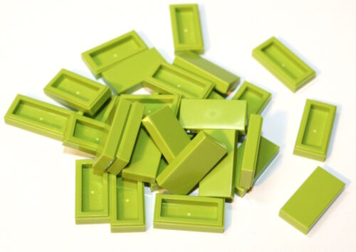 30x LEGO® Fliese//Kachel 1x2 3069b NEU Hellgrün Limette Lime