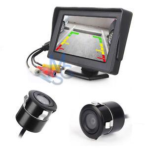 Telecamera-posteriore-per-auto-170-Led-Kit-Monitor-Retromarcia-per-Auto-Camper