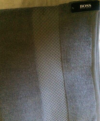 "HUGO BOSS CLASSIC BATHROOM TOWEL 30/"" X 54/""CHARCOAL NWT"