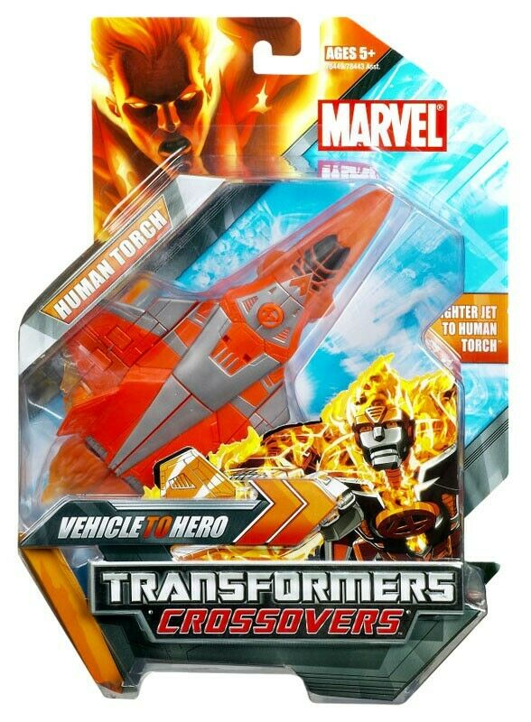Marvel Transformers Credvers Human Torch Action Figure