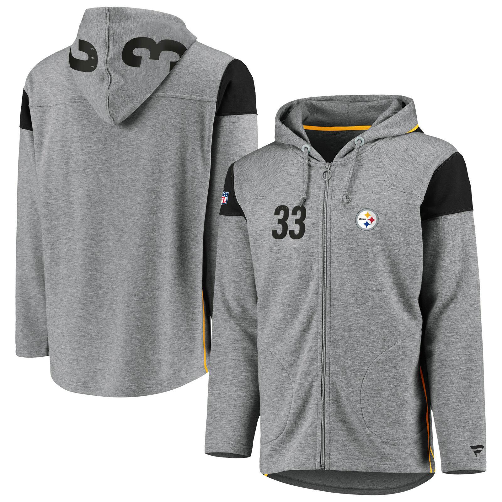 Pittsburgh Steelers Franchise Full Zip Sport Sweater Hoodie Hoody - Mens