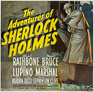 Sherlock-Holmes-1939-Vintage-Movie-Poster-Reproduction-Canvas-Print-24x24-Inches