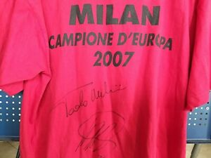 Autografata-Maldini-Kaka-maglia-finale-champions-League-Milan-Liverpool-2007