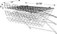 Store Display Fixtures New Black Grid Wire Adjustable Wire Shelf 24w X 14d