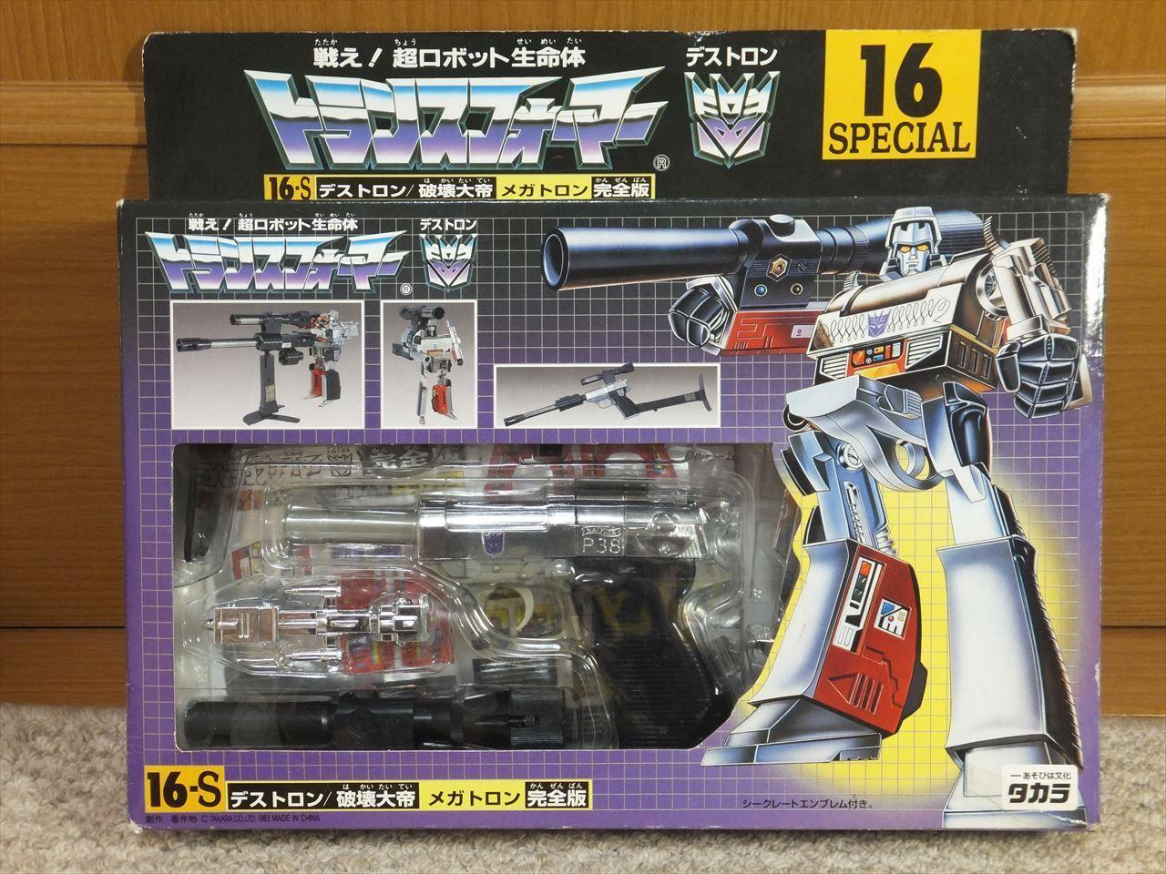 Transformers G1 DESTRON MEGATRON 16-S Special TAKARA