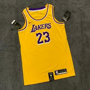 Details about Los Angeles Lakers #23 Lebron James Yellow Jersey Size S 100% Authentic