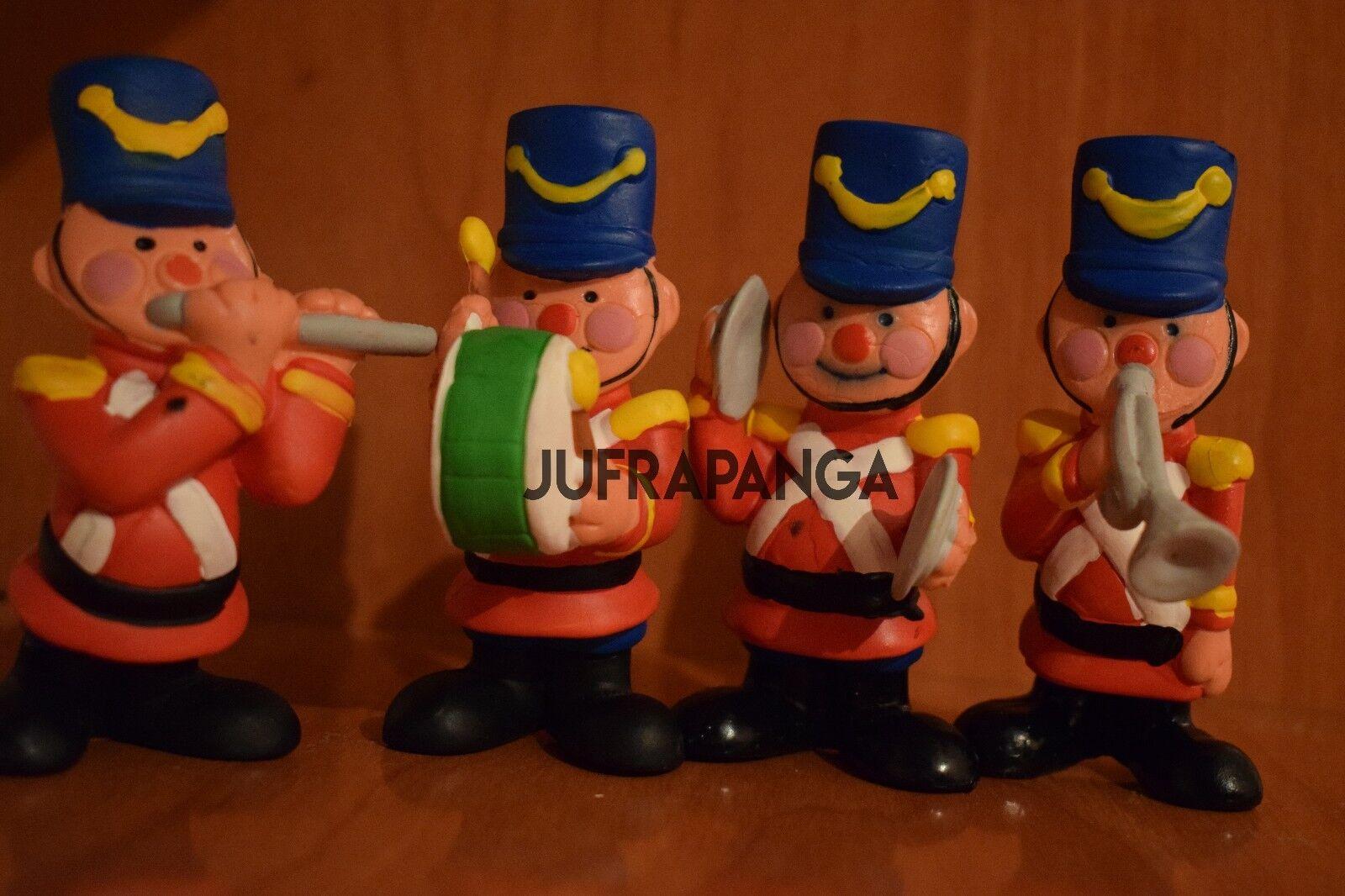 STARTOYS star toys FIGURAS PVC GOMA MUSICOS UNIFORMADOS VINTAGE′80 SOLDADITO