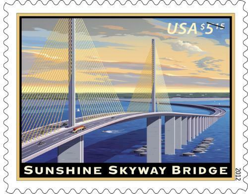2012 $5.15 Sunshine Skyway Bridge, Florida, Priority Ma