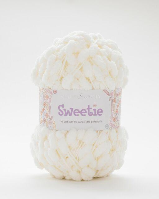 2 x 200g Sirdar Snuggly Sweetie Pompom Wool//Yarn Rice Pud Blanket Pattern