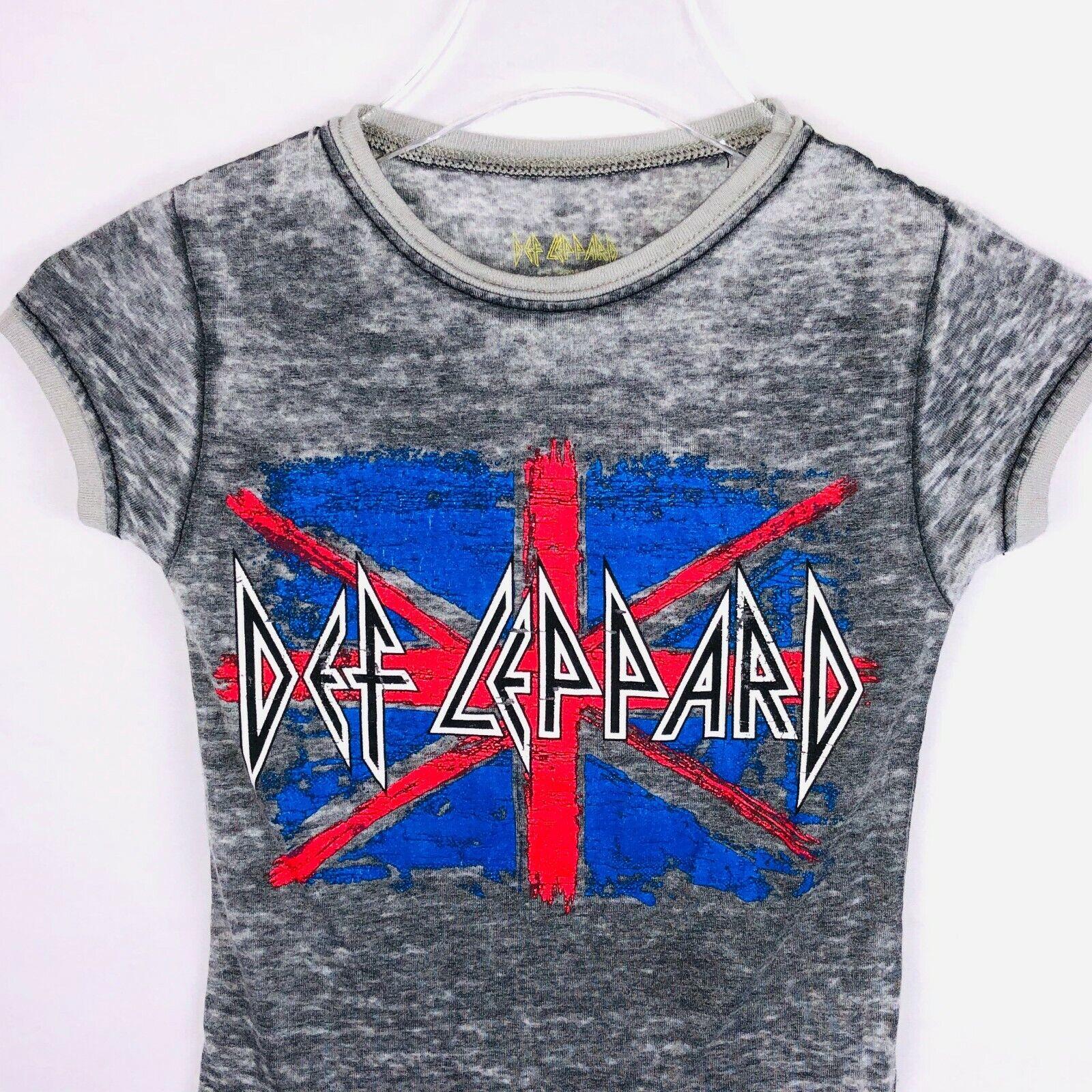 Def Leppard Burn Out Material Unisex M (7/8) T Shirt