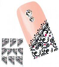 J030 NAGELSTICKER FRENCH STYLE Fingerspitzen Nail Art Tattoo Aufkleber