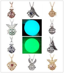 Mexican-Silver-Gold-Bola-Angel-Caller-Harmony-Luminous-Ball-Pendant-Necklace
