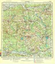 Russian Soviet Military Topographic Map – SWIEBODZIN (Poland), 1:200K, ed. 1982