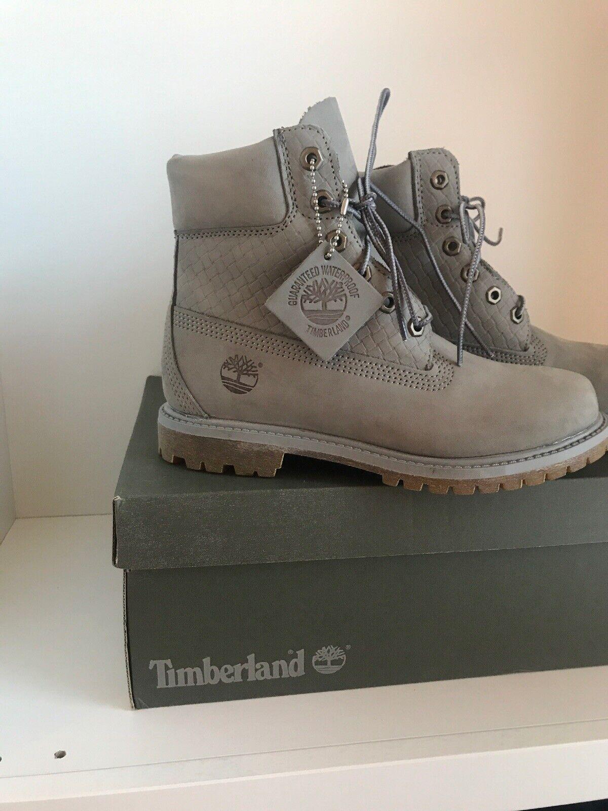 Timberland Timberland Timberland Stiefel Stiefel Gr 38 Grau Neu 73bdbc