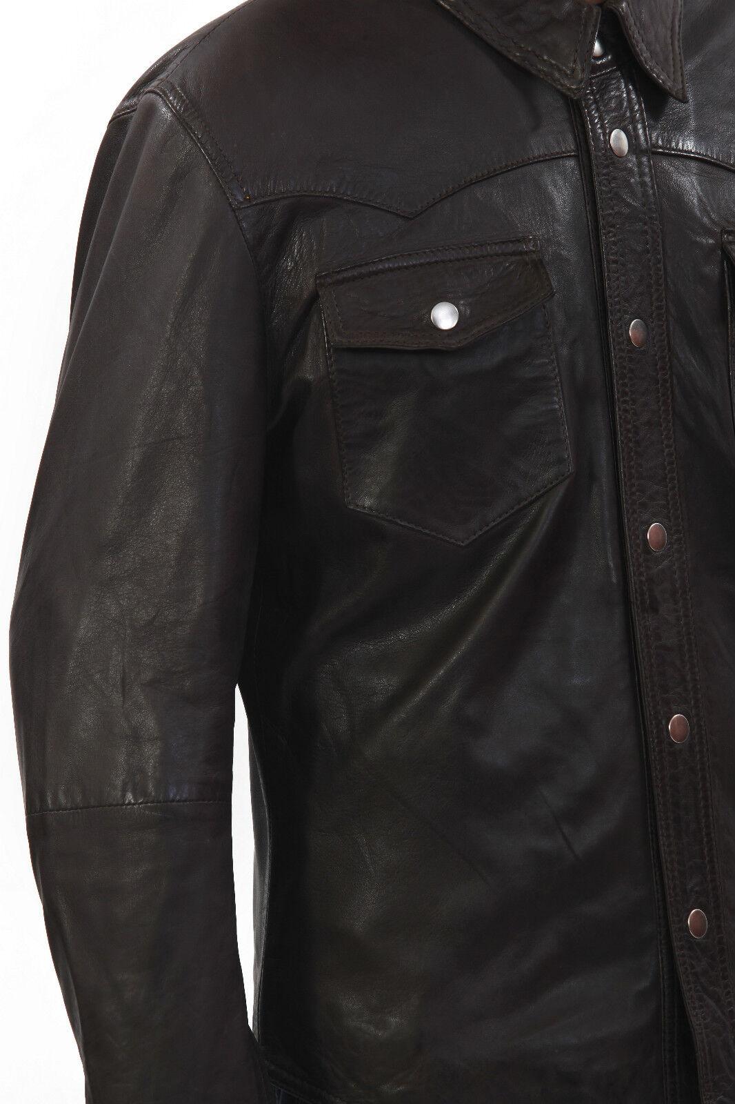 Camicia tessuto in puro cotone collo classico uomo misura 40 tessuto Camicia facile stiro 2 capi 2f4c3d