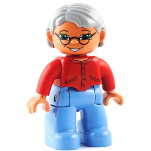 LEGO ® DUPLO Dame nonna personaggio 47394pb123 Nonna Granny LADY NUOVO