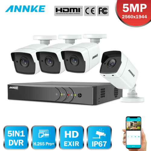 ANNKE 8CH 5MP Überwachungskamera DVR IP67 Kamera Smart Search Fernzugriff H.265+