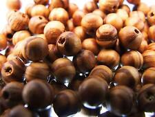 200 ROUND WOODEN BEADS Brown 8mm Bulk Pack Natural Wood