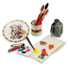 Reutter Porzellan Malerutensilien Painter Utensils Puppenstube 1:12 Art 1.750/8