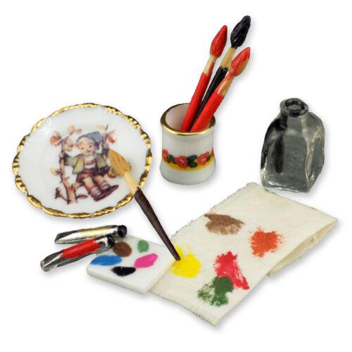 Reutter porzellan peintre ustensiles painter utensils poupée 1:12 type 1.750//8