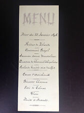Ancien menu 1898