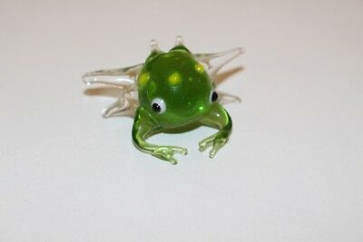 Dependable Glass Figure Animal Lauscha Murano Glaskrabbe Crab Green Handmade Decorative Arts