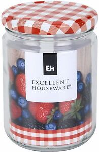Set-of-6-Glass-Preserve-Jar-900ml-Preserve-Jars-With-Red-Tartan-Lids