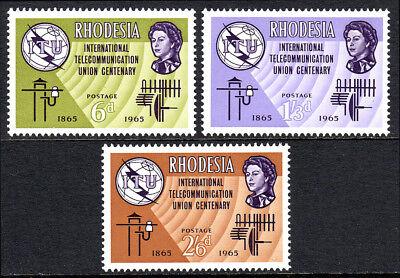 FäHig Rhodesia 200-202 1965 Online Rabatt Jahrhundert Alte Und Neue Communication Geräte Mnh Itu