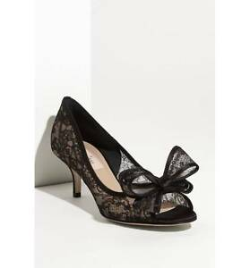e0be811be0f Image is loading Valentino-Lace-Couture-Bow-Pump-Size-38-US-