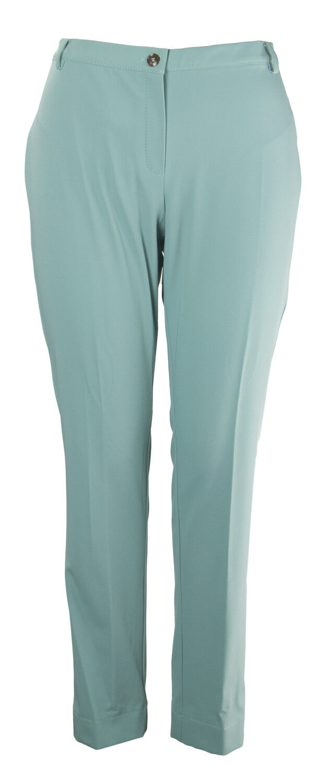 MARINA RINALDI Women's Turquoise Regio Super Slim Pants NWT
