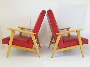 Paire De Fauteuils Typique 1950 Vintage Annees 50 Zazou Rockabilly 50's Chairs