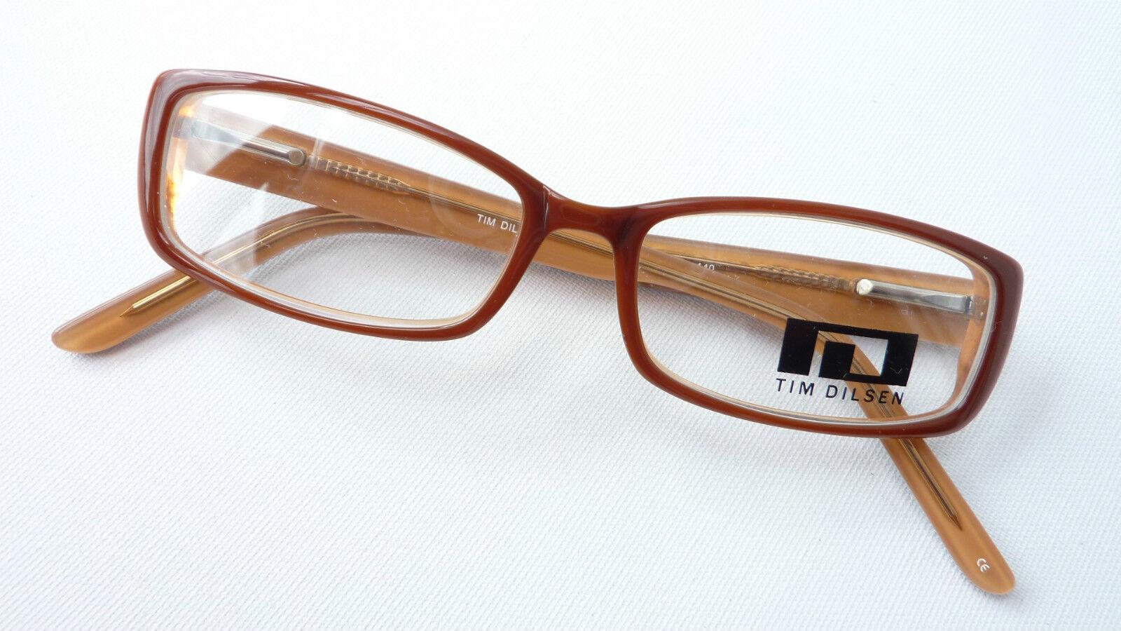 Tim Dilsen Kunststoff-Brillen Damengestell Erdfarben braun Flexbügel Grösse S         Exzellente Verarbeitung    Auktion    Qualität und Quantität garantiert  6d4a09