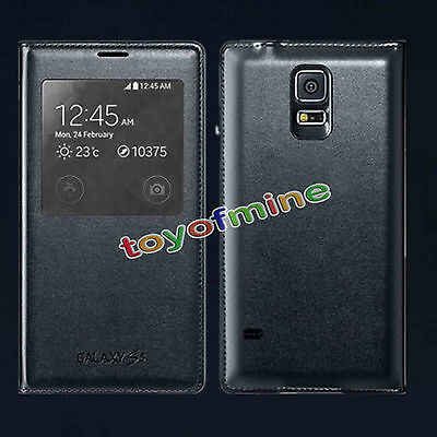 New Smart Window Flip S-View Leather Case Cover Skin For Samsung Galaxy S5 i9600