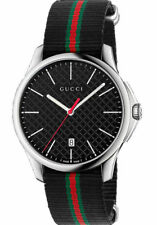 94c48c5a541 item 5 New Gucci G-Timeless Black Dial Steel Striped Nylon Strap YA126321  Swiss Watch -New Gucci G-Timeless Black Dial Steel Striped Nylon Strap  YA126321 ...