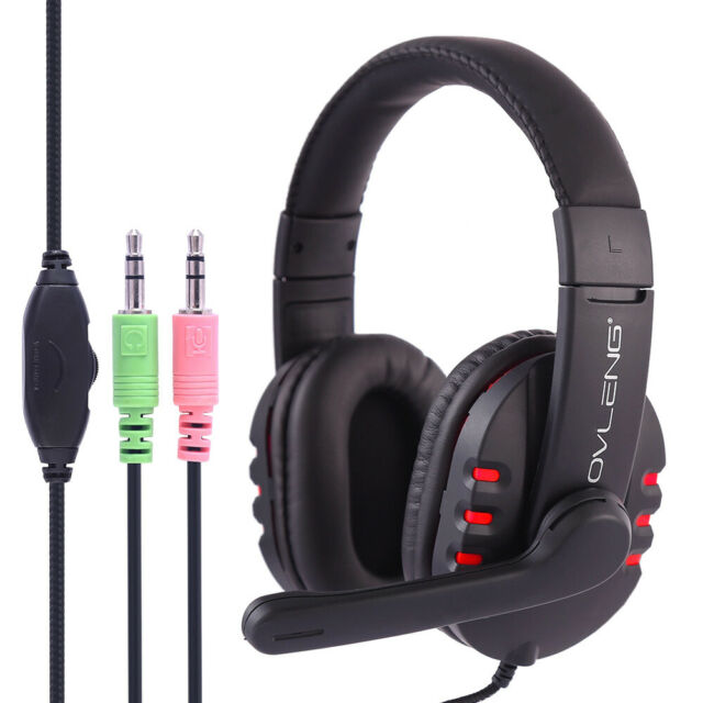 3.5mm Stereo Computer Gaming Headset Headphone With Microphone for PC