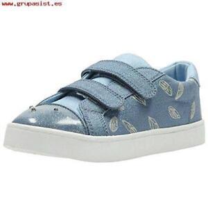 d7ac24cb4f2 Clarks Doodles Girls Pattie Lol Denim Canvas Lights Shoes SIze UK12 ...