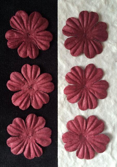 20 burgundy handmade mulberry paper flowers petals maroon 20 burgundy handmade mulberry paper flowers petals maroon scrapbooking cards 1 mightylinksfo