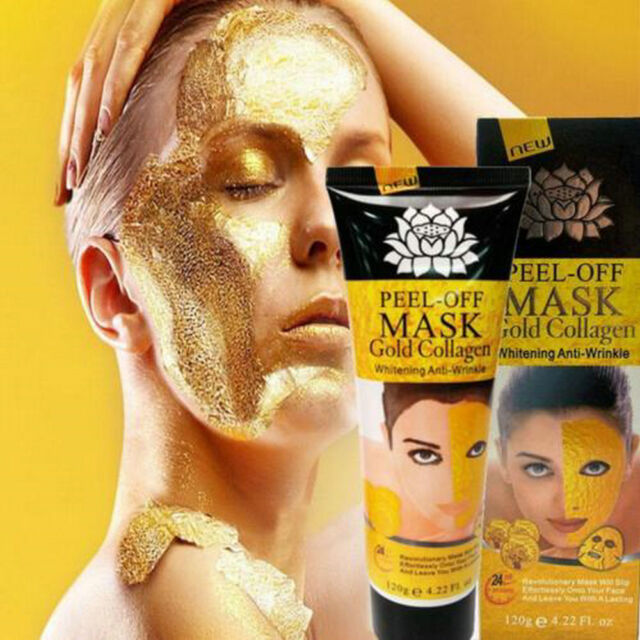 24K Gold Collagen Facial Face Mask High Moisture Anti Aging Remove Wrinkle Care