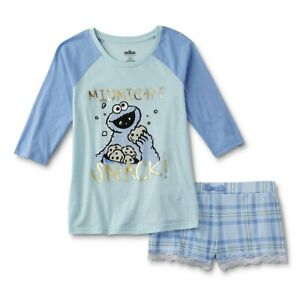 8cc25484 Image is loading Cookie-Monster-Pajamas-Womens-Size-Large-Cotton-Shirt-
