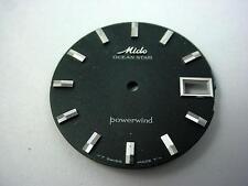 Black Vintage Mido Ocean Star Powerwind Watch Dial Date Window 29.34mm Black NOS