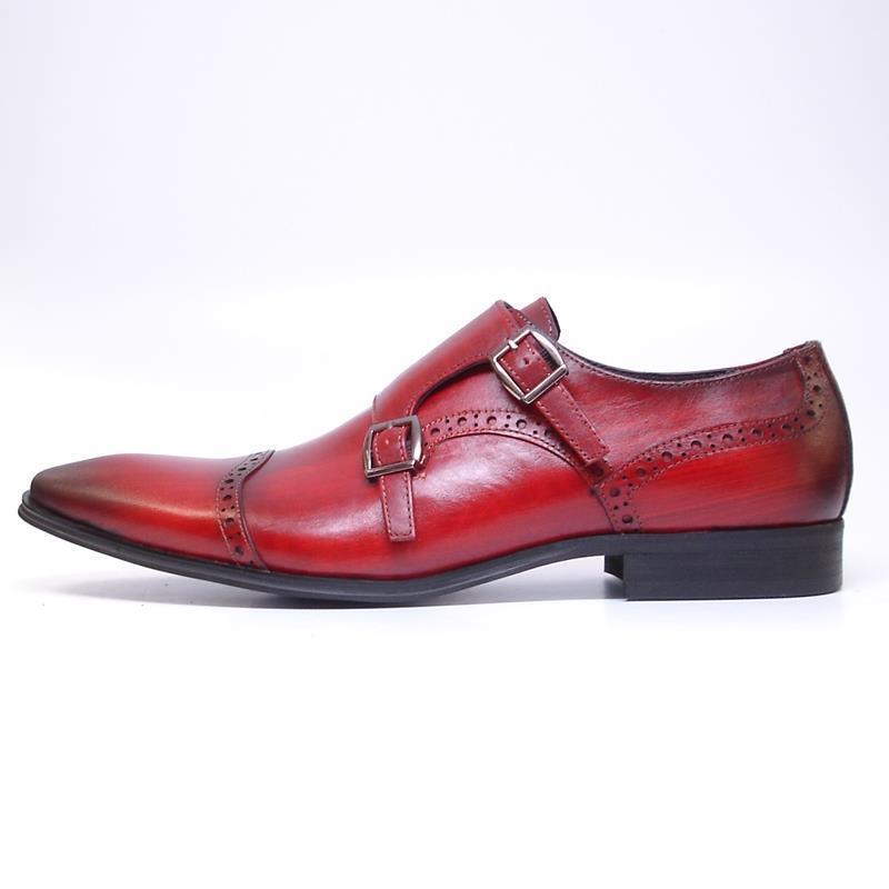 vieni a scegliere il tuo stile sportivo New Encore Burgundy rosso Pointed Toe Toe Toe Leather Style Slip on Dress scarpe FI 6922  Sconto del 70%