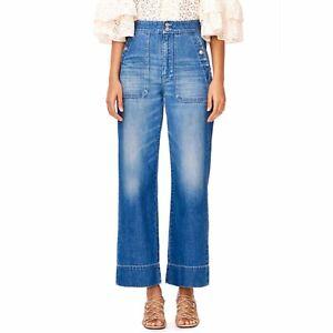 La Vie Rebecca Taylor Delphine Wide Leg Jeans Size 24 Ebay
