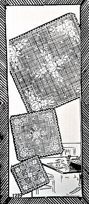 Vintage Antique Crochet PATTERN to make Filet Baby Hat Bonnet Clark/'s Rosy Posy