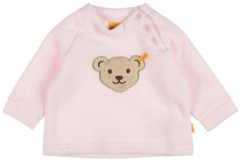 """62-104 Basic NEU! STEIFF® Fleece Sweatshirt Pullover Rosa /""""Quietsch Bär/"""" Gr"""