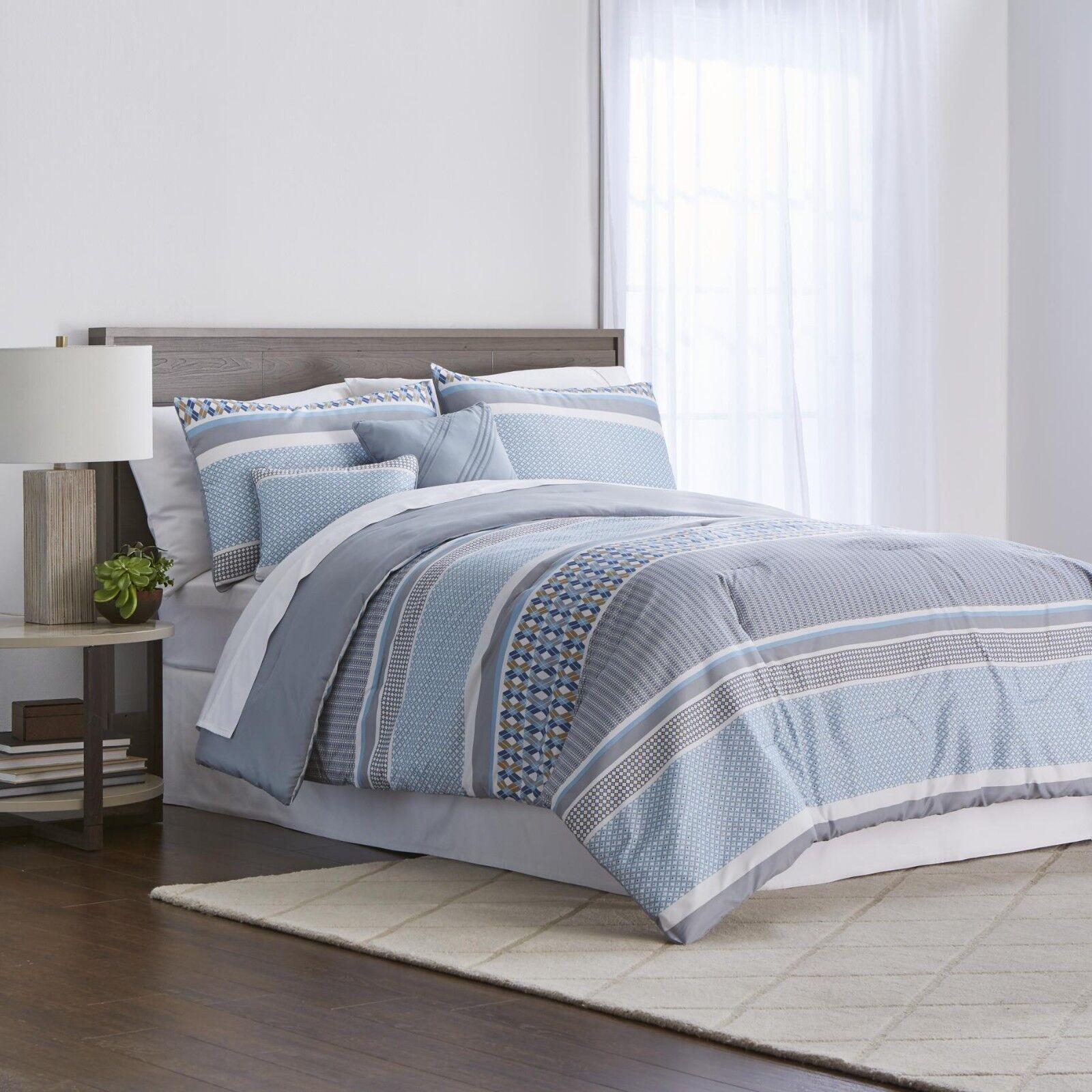 Farbemate Maricus Blau 5-Piece Comforter Set - Full Queen, King