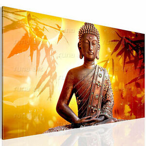 bilder leinwand bild 5003137b buddha kunstdruck feng shui kreativ deko rot 1tlg ebay. Black Bedroom Furniture Sets. Home Design Ideas